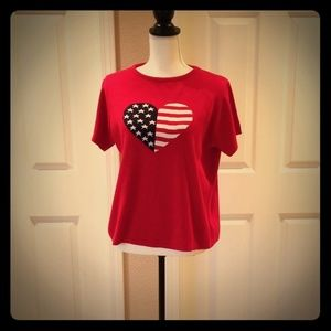 White Stag American flag top